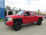 2011 Victory Red Chevrolet Silverado 1500 LS Extended Cab 4x4 #87714006