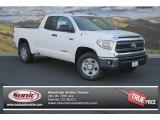 2014 Super White Toyota Tundra SR5 Double Cab 4x4 #87713810
