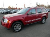 2006 Inferno Red Crystal Pearl Jeep Grand Cherokee Limited 4x4 #87714293