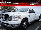 2009 Bright White Dodge Ram 3500 Big Horn Edition Quad Cab Dually #87763211