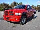 2004 Flame Red Dodge Ram 1500 SLT Quad Cab 4x4 #87784094