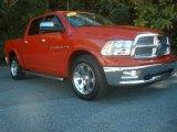 2012 Flame Red Dodge Ram 1500 Laramie Crew Cab 4x4 #87790100