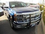 2014 Blue Topaz Metallic Chevrolet Silverado 1500 LTZ Crew Cab 4x4 #87790029