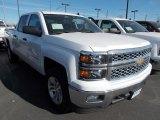 2014 Summit White Chevrolet Silverado 1500 LT Crew Cab 4x4 #87790028