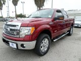 2013 Ruby Red Metallic Ford F150 XLT SuperCrew 4x4 #87789853