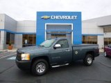 2008 Blue Granite Metallic Chevrolet Silverado 1500 Work Truck Regular Cab 4x4 #87789946
