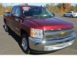 2013 Deep Ruby Metallic Chevrolet Silverado 1500 LT Extended Cab #87822337