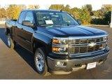2014 Black Chevrolet Silverado 1500 LTZ Z71 Double Cab 4x4 #87822333
