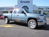 2012 Blue Granite Metallic Chevrolet Silverado 1500 LT Extended Cab #87822108