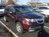 2011 Dark Cherry Pearl Acura MDX Technology #87865316