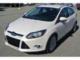 2012 White Platinum Tricoat Metallic Ford Focus Titanium 5-Door #87865245