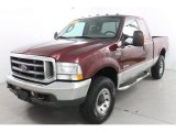2004 Dark Toreador Red Metallic Ford F250 Super Duty XLT SuperCab 4x4 #87864565