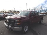 2014 Deep Ruby Metallic Chevrolet Silverado 1500 WT Double Cab 4x4 #87910911