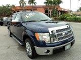 2011 Dark Blue Pearl Metallic Ford F150 Lariat SuperCrew #87910805