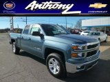 2014 Blue Granite Metallic Chevrolet Silverado 1500 LT Double Cab 4x4 #87911317