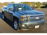 2014 Blue Granite Metallic Chevrolet Silverado 1500 LT Double Cab #87911196