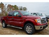 2013 Ruby Red Metallic Ford F150 XLT SuperCrew 4x4 #87957893