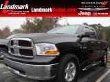 2010 Brilliant Black Crystal Pearl Dodge Ram 1500 SLT Quad Cab 4x4 #87957891