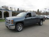 2014 Blue Granite Metallic Chevrolet Silverado 1500 LT Double Cab 4x4 #87957783