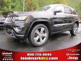 2014 Brilliant Black Crystal Pearl Jeep Grand Cherokee Overland #87957834