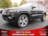 2014 Brilliant Black Crystal Pearl Jeep Grand Cherokee Overland #87957833
