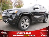 2014 Brilliant Black Crystal Pearl Jeep Grand Cherokee Overland 4x4 #87957831