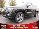 2014 Brilliant Black Crystal Pearl Jeep Grand Cherokee Overland #87957829