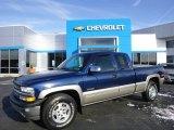 2002 Indigo Blue Metallic Chevrolet Silverado 1500 LS Extended Cab 4x4 #87957928