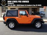 2012 Crush Orange Jeep Wrangler Sport 4x4 #87998990