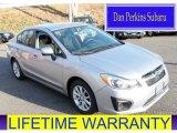 2012 Ice Silver Metallic Subaru Impreza 2.0i Premium 4 Door #88016239