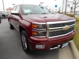 2014 Deep Ruby Metallic Chevrolet Silverado 1500 High Country Crew Cab 4x4 #88024403