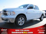 2014 Bright White Ram 1500 Big Horn Crew Cab #88024262