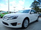 2010 White Platinum Tri-coat Metallic Ford Fusion Hybrid #88059283