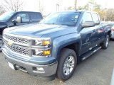 2014 Blue Granite Metallic Chevrolet Silverado 1500 LT Double Cab 4x4 #88059159