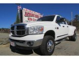 2007 Bright White Dodge Ram 3500 SLT Quad Cab 4x4 Dually #88059591