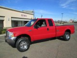2004 Red Ford F250 Super Duty XLT SuperCab 4x4 #88104615