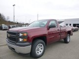 2014 Deep Ruby Metallic Chevrolet Silverado 1500 WT Regular Cab 4x4 #88104082
