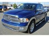 2011 Deep Water Blue Pearl Dodge Ram 1500 Laramie Crew Cab 4x4 #88104590