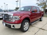 2013 Ruby Red Metallic Ford F150 Lariat SuperCrew 4x4 #88103687