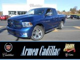 2011 Deep Water Blue Pearl Dodge Ram 1500 Sport Quad Cab 4x4 #88103514