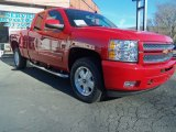 2013 Victory Red Chevrolet Silverado 1500 LT Extended Cab 4x4 #88103660