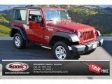 2012 Flame Red Jeep Wrangler Sport 4x4 #88103478
