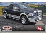 2009 Brilliant Black Crystal Pearl Dodge Ram 1500 Laramie Crew Cab 4x4 #88103474