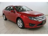 2010 Red Candy Metallic Ford Fusion SE #88104530