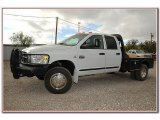 2007 Bright White Dodge Ram 3500 Laramie Quad Cab 4x4 Dually #88104291