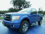 2014 Blue Flame Ford F150 STX Regular Cab #88192478