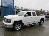 2014 Summit White Chevrolet Silverado 1500 LTZ Double Cab 4x4 #88192462