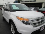 2013 White Platinum Tri-Coat Ford Explorer XLT EcoBoost #88234290