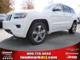 2014 Bright White Jeep Grand Cherokee Overland #88250905