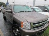 2012 Mocha Steel Metallic Chevrolet Silverado 1500 LTZ Crew Cab 4x4 #88255685